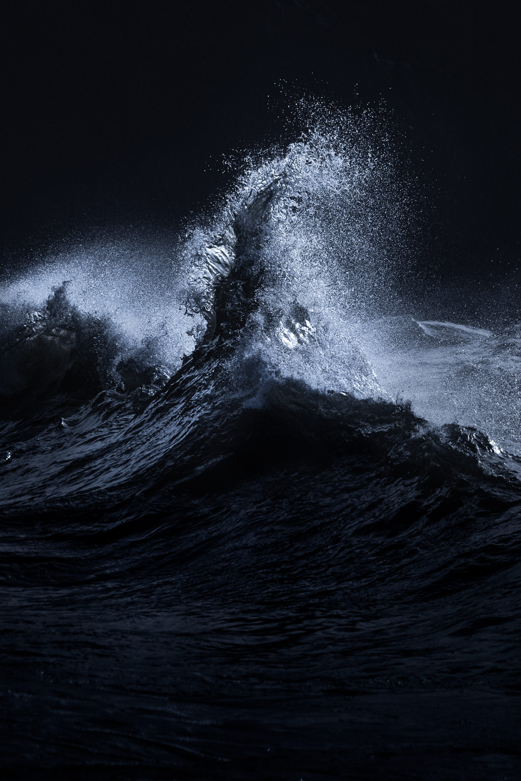 Dramatic Wave photography shot at Cape Disappointment state park in Washington.
